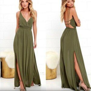 Lulus Lost in Paradise Strappy Maxi Dress